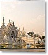 Wat Rong Khun In Chiang Rai Thailand  Metal Print