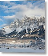 Wetterstein Mountain Chain With Mt Metal Print