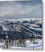 Whistler Mountain Peak View From Blackcomb Metal Print