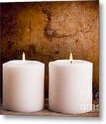White Candles Metal Print