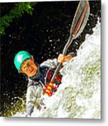 Whitewater Kayak Metal Print
