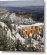 Winter Scene, Bryce Canyon National Park Metal Print