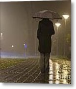 Woman With An Umbrella Metal Print
