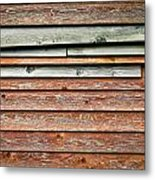 Wooden Panels Metal Print
