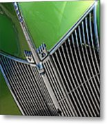 40 Ford - Grill Detail-8633 Metal Print
