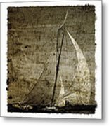 40 Sailboat - With Open Wings In A Grunge Background  Metal Print