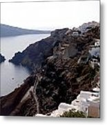 Views Of Santorini Greece Metal Print