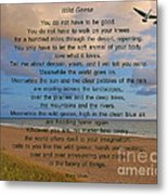 40- Wild Geese Mary Oliver Metal Print