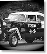 409 Cu Inches Black And White Metal Print