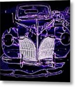 41 Lincoln In Neon Metal Print