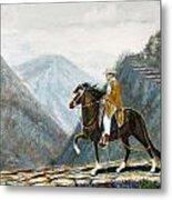 410 Peruvian Mountain Trail Metal Print