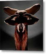 4102 Abstract Nude On Pedestal  Metal Print