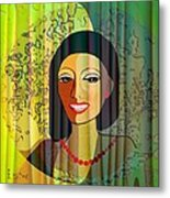 416 - Lady With Nice Teeth Metal Print by Irmgard Schoendorf Welch