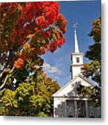 Lunenburg, Ma - Fall Foliage Metal Print