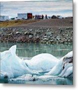 Iceland, Ice & Fire Metal Print