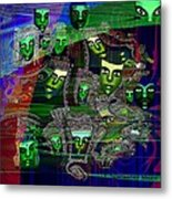 424 - Green Masks   Metal Print