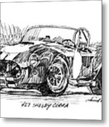 427 Shelby Cobra Metal Print by David Lloyd Glover