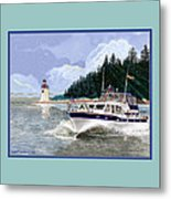 43 Foot Tollycraft Southbound In Clovos Passage Metal Print