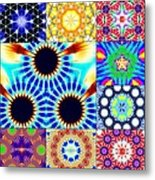 432hz Cymatics Grid Metal Print