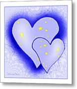 457 - Two Hearts Blue Metal Print