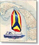 39 Foot Beneteau Cape Cod Chart Art Metal Print