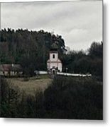 Church And Historical Houses Metal Print