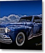 48 Lincoln Continental By Moonlight Metal Print