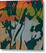 Nude Pop Stylised Art Poster Metal Print