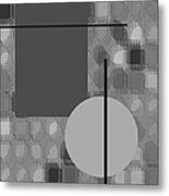 48th Shade Of Gray Metal Print