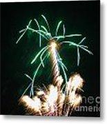 4th Of July 2014 Fireworks Bridgeport Hill Clarksburg Wv 2 Metal Print by Howard Tenke