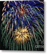 4th Of July 2014 Fireworks Mannington Wv 1 Metal Print
