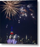 4th Of July Fireworks Metal Print by Eduard Moldoveanu