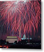 4th Of July Fireworks Metal Print by Mark Whitt