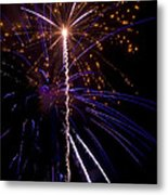 4th Of July Fireworks Metal Print by Ray Devlin