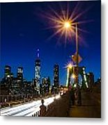 4th Of July On The Brooklyn Bridge Metal Print