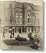16th Street Baptist Church In Black And White With A White Vingette Metal Print