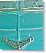1956 Chevrolet Belair Hood Ornament Metal Print