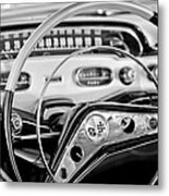 1958 Chevrolet Impala Steering Wheel Metal Print