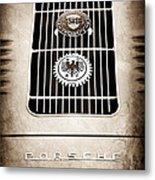 1960 Volkswagen Vw Porsche 356 Carrera Gs Gt Replica Emblem Metal Print by Jill Reger