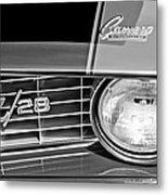 1969 Chevrolet Camaro Z 28 Grille Emblem Metal Print
