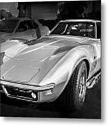 1969 Chevrolet Corvette 427 Bw Metal Print