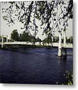 A Wonderful Suspension Bridge Over The River Ness In Inverness Metal Print