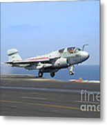An Ea-6b Prowler Launches Metal Print