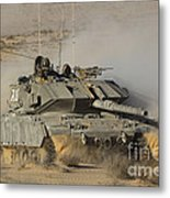 An Israel Defense Force Magach 7 Main Metal Print