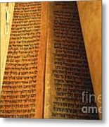 Ancient Torah Scrolls From Yemen  Metal Print