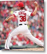 Atlanta Braves V. Washington Nationals Metal Print