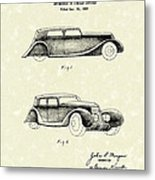 Automobile 1935 Patent Art Metal Print
