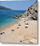 Beach In Legrena Metal Print