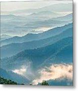 Blue Ridge Parkway Scenic Mountains Overlook Summer Landscape Metal Print