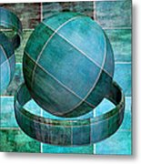 5 By 5 Ocean Geometric Shapes Metal Print